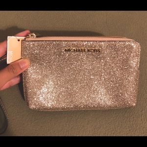 MK double zipper wristlet